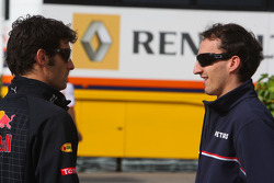 Mark Webber, Red Bull Racing and Robert Kubica, BMW Sauber F1 Team