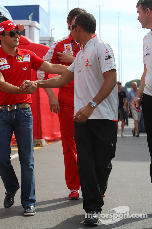 Felipe Massa, Scuderia Ferrari y Lewis Hamilton, McLaren Mercedes