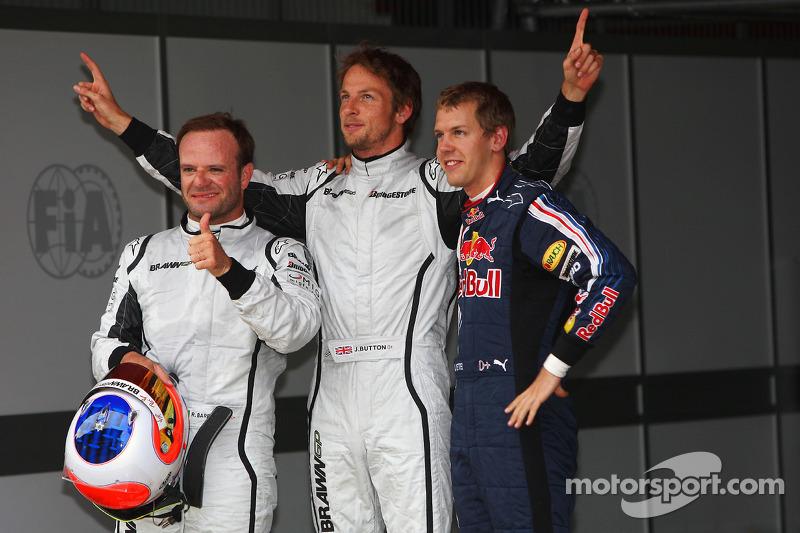 Rubens Barrichello, Brawn GP, Pole: Kazanan Jenson Button, Brawn GP ve Sebastian Vettel, Red Bull R