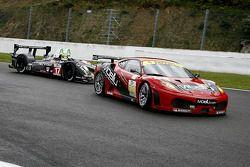 Ferrari F430 GT N°78 : Matt Griffin, Peter Bamford ; Pescarolo-Judd N°17 : Bruce Jouanny, Joao Barbo