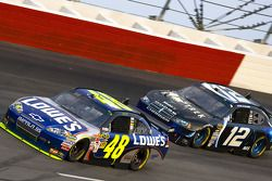 Jimmie Johnson, Hendrick Motorsports Chevrolet, David Stremme, Penske Racing Dodge