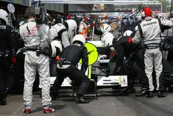 Jenson Button, Brawn GP pit stop
