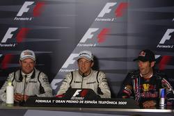 FIA press conference: race winner Jenson Button, Brawn GP, second place Rubens Barrichello, Brawn GP