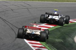 Romain Grosjean and Edoardo Mortara
