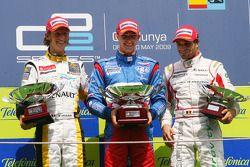 Romain Grosjean, Edoardo Mortara and Jerome D'Ambrosio