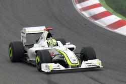 Race winner Jenson Button, Brawn GP