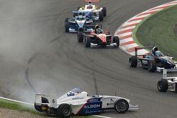 Crash de George Katsinis, Eifelland Racing
