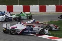 Jack Te Braak, Muecke Motorsport et Come Ledogar, DAMS sortent de la piste
