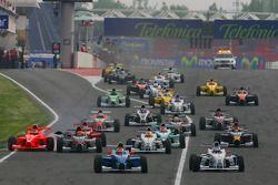 Départ, Luiz Felipe Nasr, Eurointernational et Michael Christensen, Muecke Motorsport