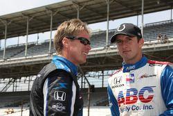 Davey Hamilton, Dreyer & Reinbold Racing et A.J. Foyt IV, A.J. Foyt Enterprises
