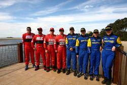 Gaurav Gill et Glen Macneall, MRF Tyres, Katsuhiko Taguchi et Mark Stacey, MRF Tyres, Cody Crocker e