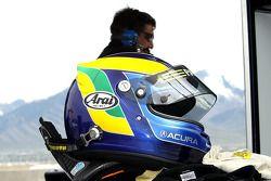 De helm van David Brabham