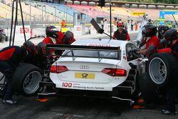 Essai de pitstop de Tom Kristensen, Audi Sport Team Abt Audi A4 DTM