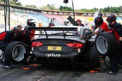 Essai de pitstop de Timo Scheider, Audi Sport Team Abt Audi A4 DTM