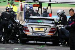 Essai de pitstop de Bruno Spengler, Team HWA AMG Mercedes C-Klasse
