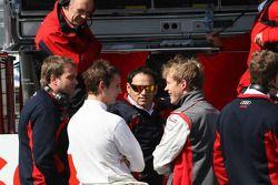 Pendant le code rogue, une poignée de pilotes Audi ont rapporté aux stands