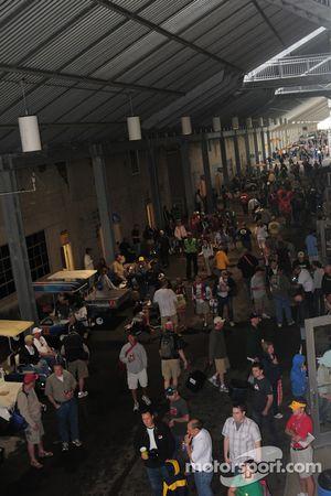 Les fans réunis sous les grandes tribunes