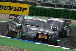 Johannes Seidlitz, Kolles TME, Audi A4 DTM, devance Ralf Schumacher, Team HWA AMG Mercedes C-Klasse
