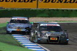 Tomas Kostka, Kolles TME, Audi A4 DTM, devance Jamie Green, Persson Motorsport, AMG Mercedes C-Klass