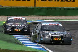 Tomas Kostka, Kolles TME, Audi A4 DTM, devance Ralf Schumacher, Team HWA AMG Mercedes C-Klasse
