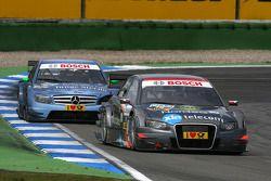 Christian Bakkerud, Kolles TME, Audi A4 DTM, devance Jamie Green, Persson Motorsport, AMG Mercedes C