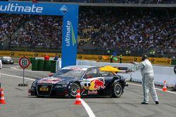 Le vainqueur moral, Mattias Ekström, Audi Sport Team Abt Audi A4 DTM qui a été malchanceux avec une