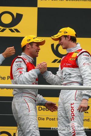 Podium: Podium: le vainqueur Tom Kristensen, Audi Sport Team Abt et le 3ème Oliver Jarvis, Audi Spor