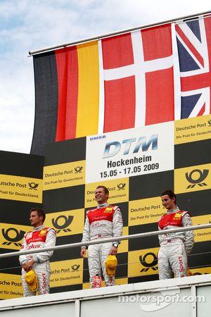 Podium: Podium: le vainqueur Tom Kristensen, Audi Sport Team Abt, seconde place pour Timo Scheider, Audi Sport Team Abt, troisième place pour Oliver Jarvis, Audi Sport Team Phoenix