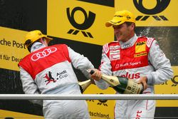Podium: Podium: race winner Tom Kristensen, Audi Sport Team Abt, second place Timo Scheider, Audi Sport Team Abt