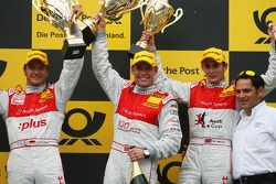 Podium: Podium: race winner Tom Kristensen, Audi Sport Team Abt, second place Timo Scheider, Audi Sp