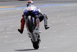 Sieger Jorge Lorenzo, Fiat Yamaha Team, feiert