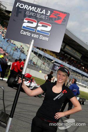Carlo van Dam, Kolles & Heinz Union, Dallara F308 Volkswagen; pitgirl