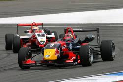 Mika Mäki, Signature, Dallara F308 Volkswagen, leads Jules Bianchi, ART Grand Prix, Dallara F308 Mercedes