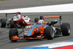 Carlo van Dam, Kolles & Heinz Union, Dallara F308 Volkswagen, leads Adrian Tambay, ART Grand Prix, D