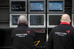 Kumho engineers on the pit wall