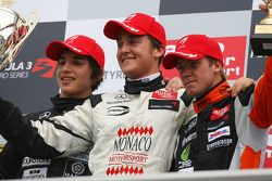 Podium, Stefano Coletti, Prema Powerteam, Roberto Merhi, Manor Motorsport, Sam Bird, Mücke Motorsport
