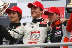 Podium, Stefano Coletti, Prema Powerteam, Roberto Merhi, Manor Motorsport, Sam Bird, Mücke Motorsport