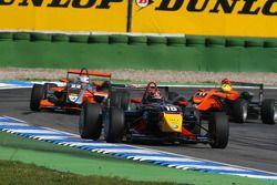 Brendon Hartley, Carlin Motorsport, Dallara F308 Volkswagen, leads Carlo van Dam, Kolles & Heinz Uni