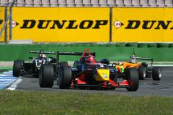 Mika Mäki, Signature, Dallara F308 Volkswagen, leads Stefano Coletti, Prema Powerteam, Dallara F308