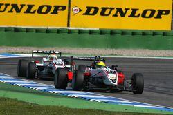 Matteo Chinosi, Prema Powerteam, Dallara F308 Mercedes, devance Alexander Sims, Mücke Motorsport, Dallara F308 Mercedes
