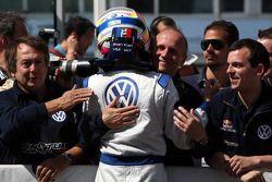 Le vainqueur de la course Jean-Karl Vernay, Signature, Dallara F308 Volkswagen