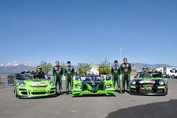 Tequila Patron photo shoot: Ed Brown, Scott Sharp, David Brabham, and Bill Sweedler