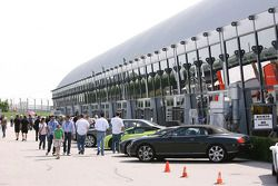 Sports cars in the paddock