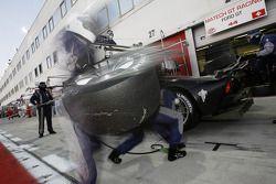 Arrêt aux stands pour #44 Matech GT Racing Ford GT: Thomas Mutsch, Thomas Biagi