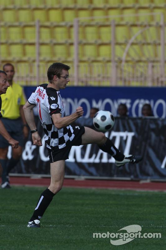 Star Team vs Nazionale Piloti, Charity Football Match, Monaco, Stade Louis II: Sebastien Bourdais, S