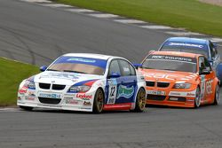 Jonny Adam leads Colin Turkington and Mat Jackson