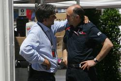 Franz Tost, Scuderia Toro Rosso, Team Principal and Pasquale Lattuneddu, FOM, Formula One Management