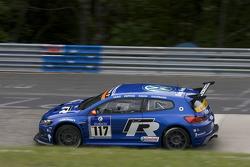 #117 Volkswagen Motorsport Volkswagen Scirocco GT24: Carlos Sainz, Giniel de Villiers, Dieter Deppin