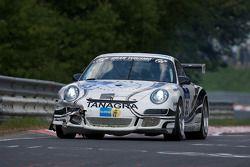 #93 Scuderia Offenbach Porsche 997 Cup: Andreas Weiland, Wirtz Guido, Algadri Maher avec des dégats