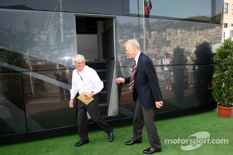 Bernie Ecclestone en Max Mosley, FIA President